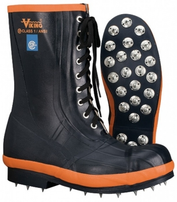 Viking Vw57 Spiked Forestry Boot With Steel Toe