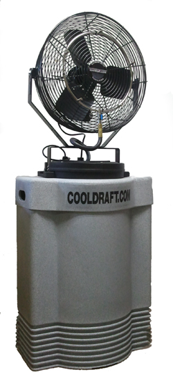 Best Portable Misting Fans With Tank : Cool draft hp misting fan cdhp gry fans