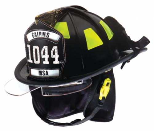 Cairns 1044 Fire Helmet With Defender Visor Fire Fighter