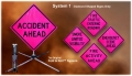 Dicke Fold & Roll Complete Emergency Sign System - Fluorescent Pink